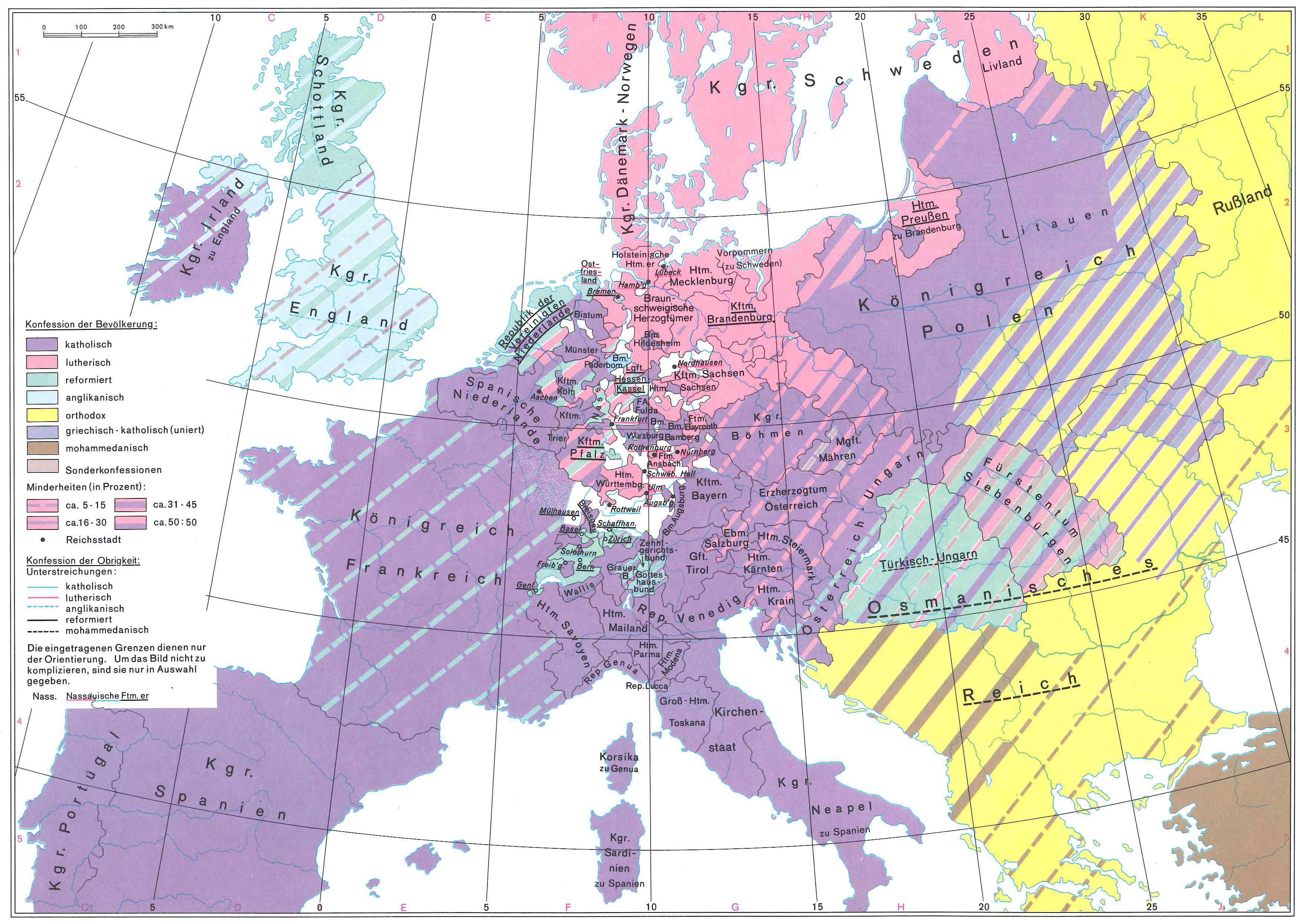religious map of europe 1648 History 301 Week 1