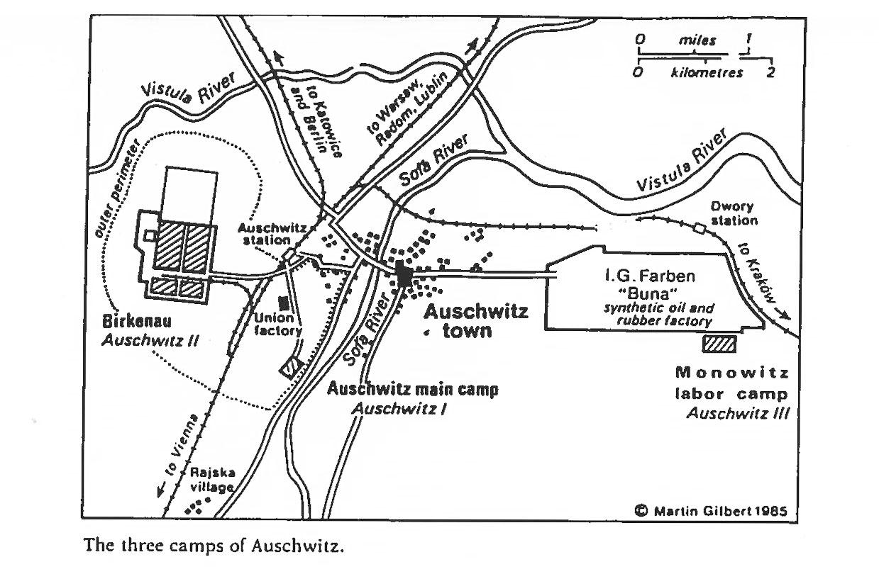 map auschwitz i ii and iii. homepage