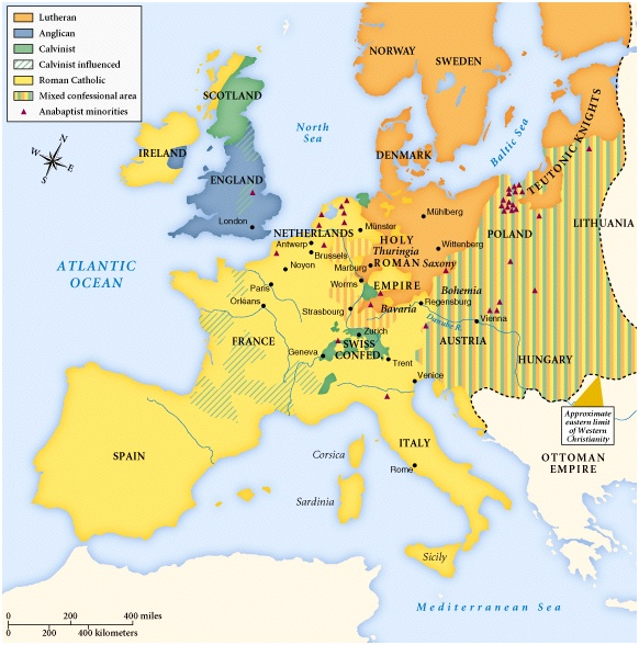 Map Of Europe 1560.Week 6 Reformation And The State