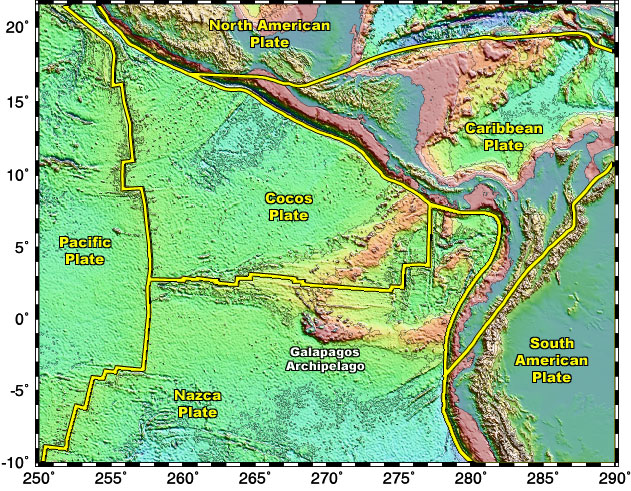 A regional view of the Galapagos Archipelago including boundaries of the adjacent tectonic plates. Bathymetric and topographic data compiled by Smith ...  sc 1 th 198 & CPM Presentation