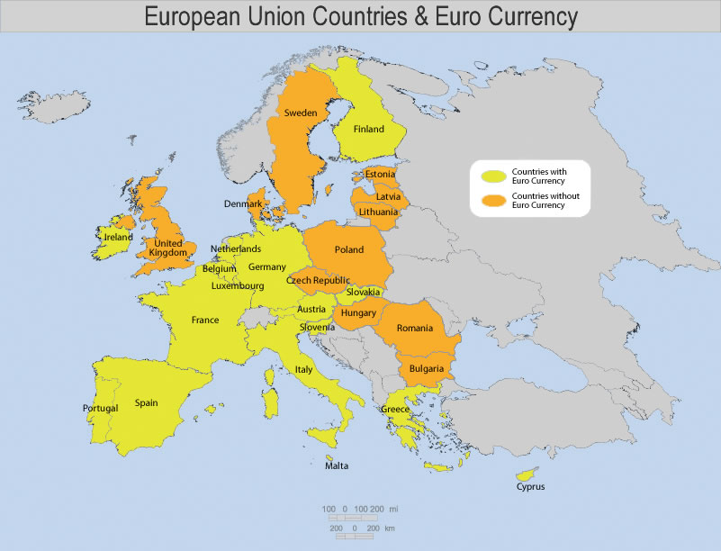 Euro 410 European Union Countries And Currency