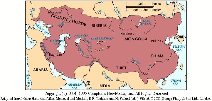 mongol rule essay The mongols controlled an enormous section of eurasia during their period of influence, two of their largest conquests being china and russia.