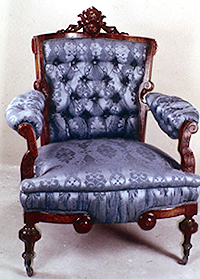 Attractive Armchair Of Walnut By Thomas Brooks And Son Of New York. American Renaissance  Revival Style.
