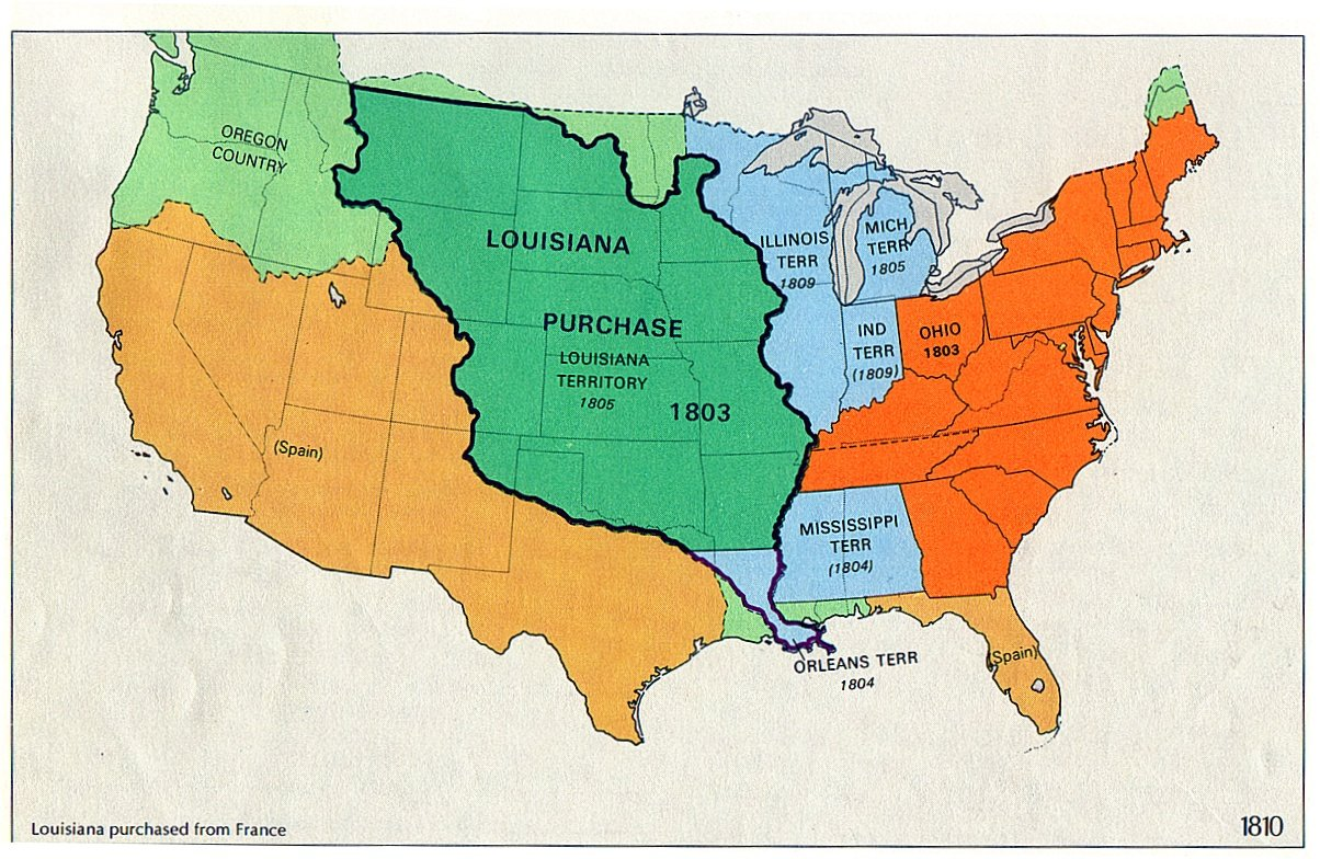 Louisana map of us the 1860s