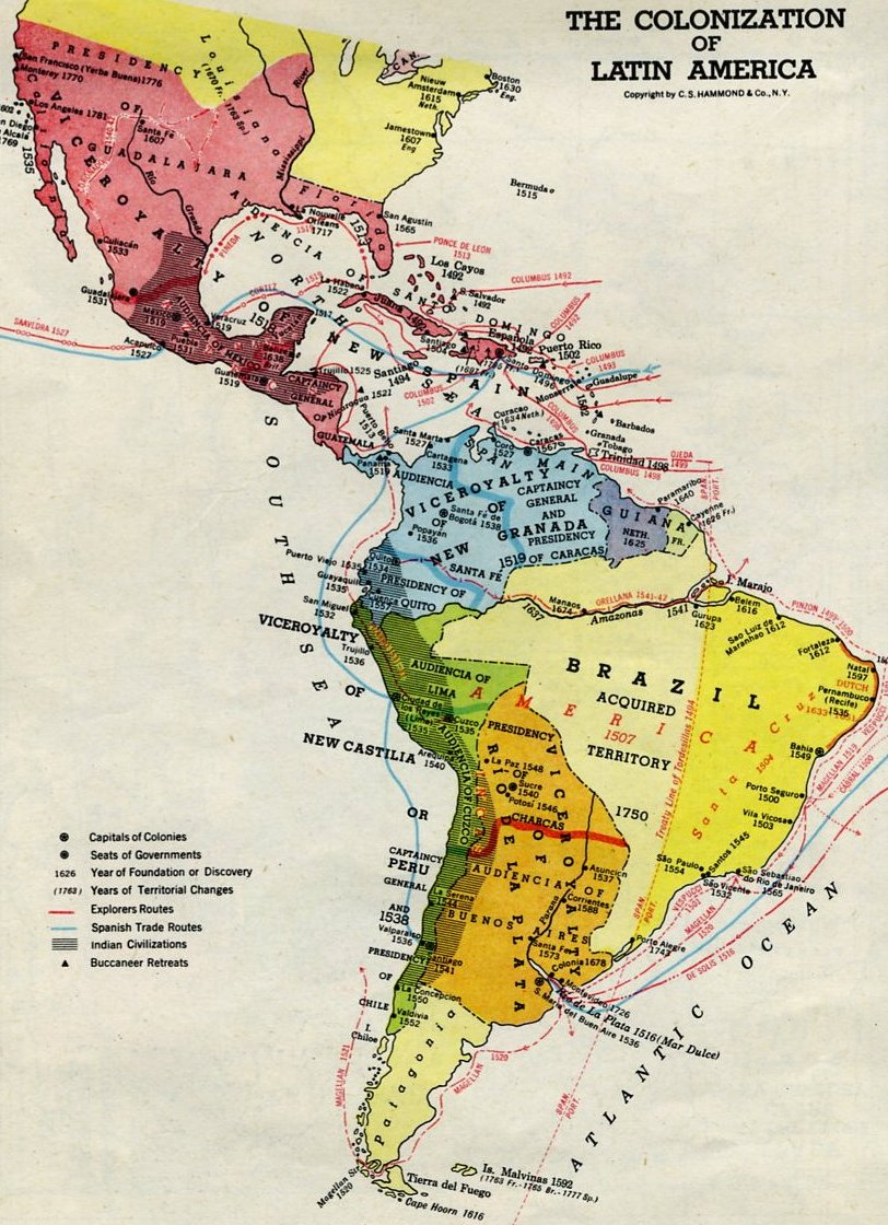 Imperialism In Latin America Map.Frontier Imperialism