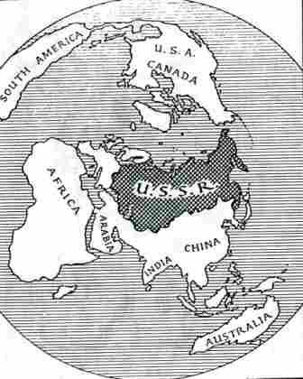 Cold War Northern Hemisphere Map