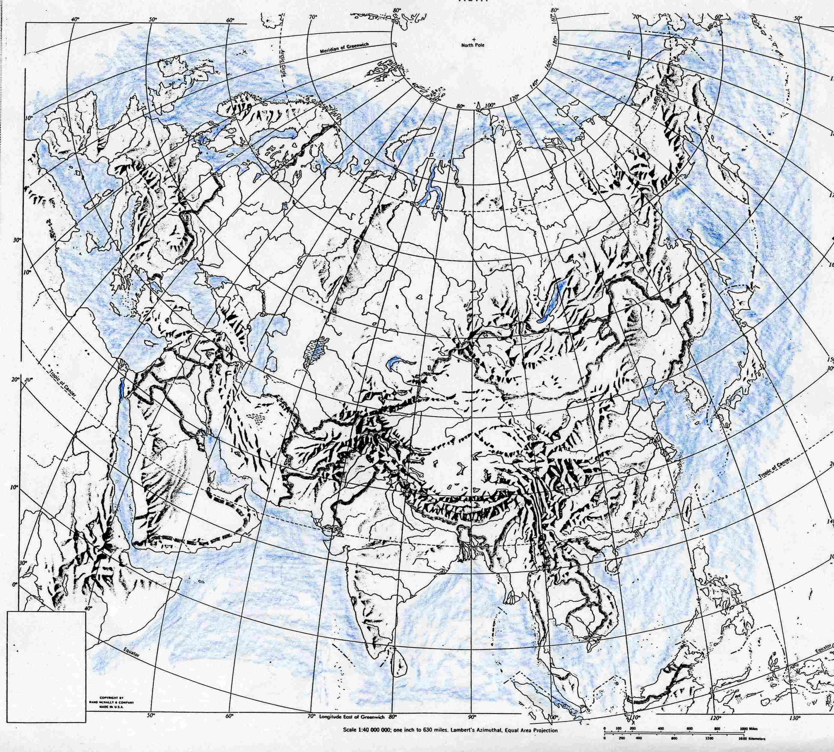 World Map Eurasia