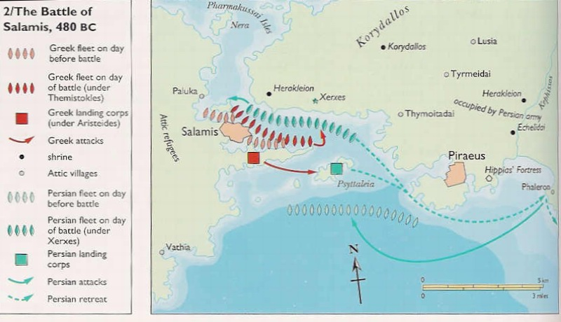 battle of salamis and themistocles Corinth is again determined to retreat to the isthmus, but the athenians, led by the wily and manipulative themistocles  nonfiction about the battle of salamis:.