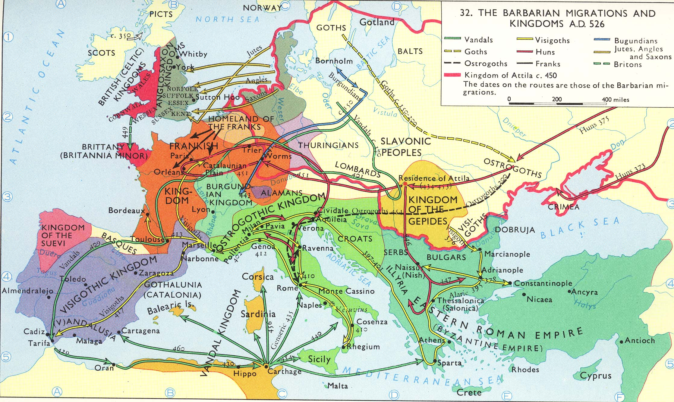 Late Roman Empire Map.Basicmodule
