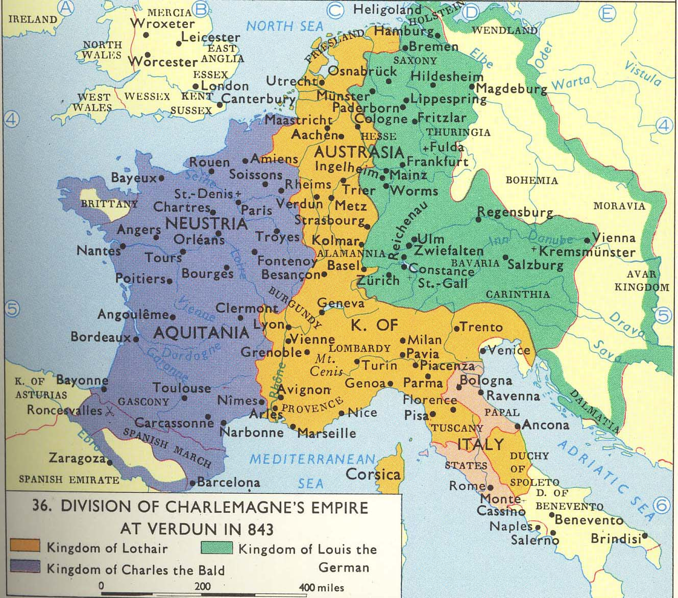 List Of Maps of Europe – sutachak Charlemagne S Empire Map on