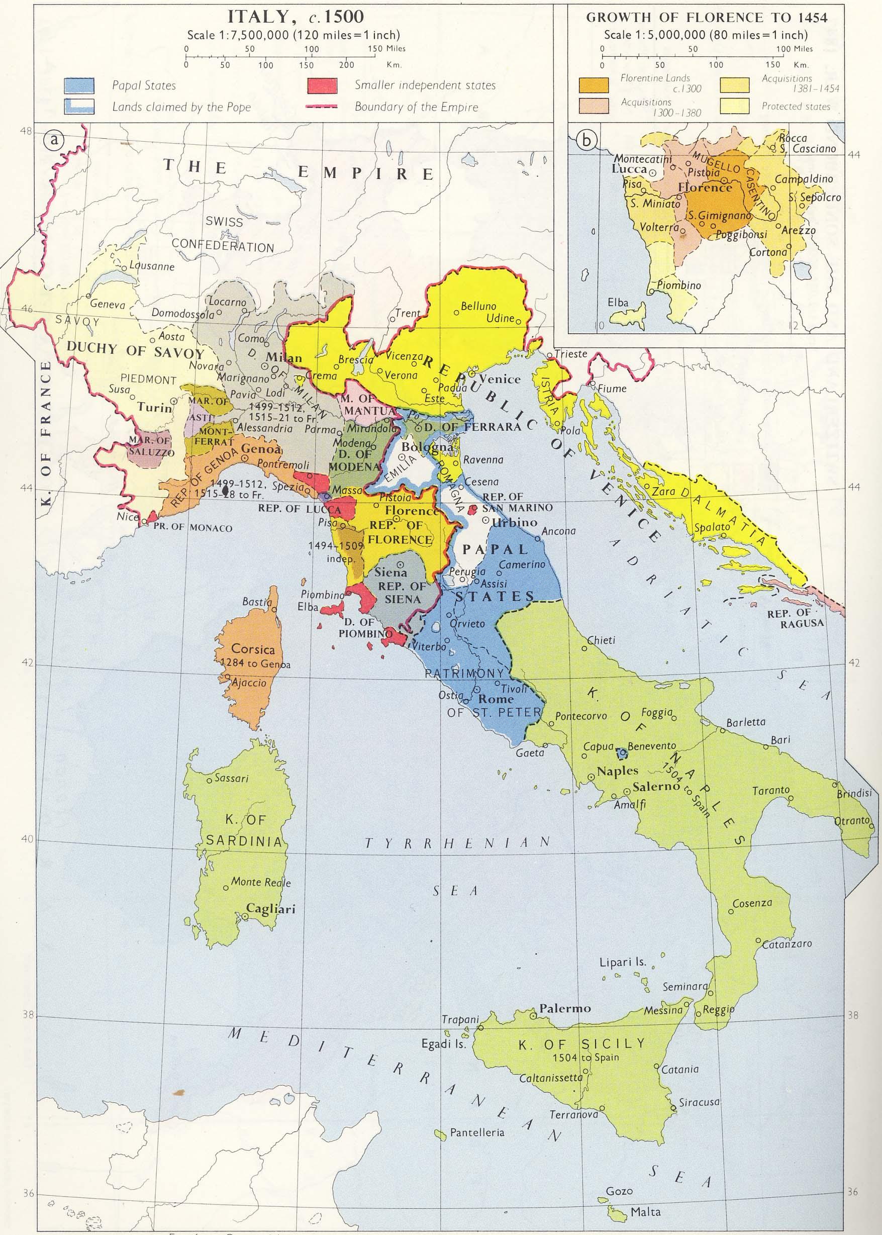 Italy Map 1500.Basicmodule
