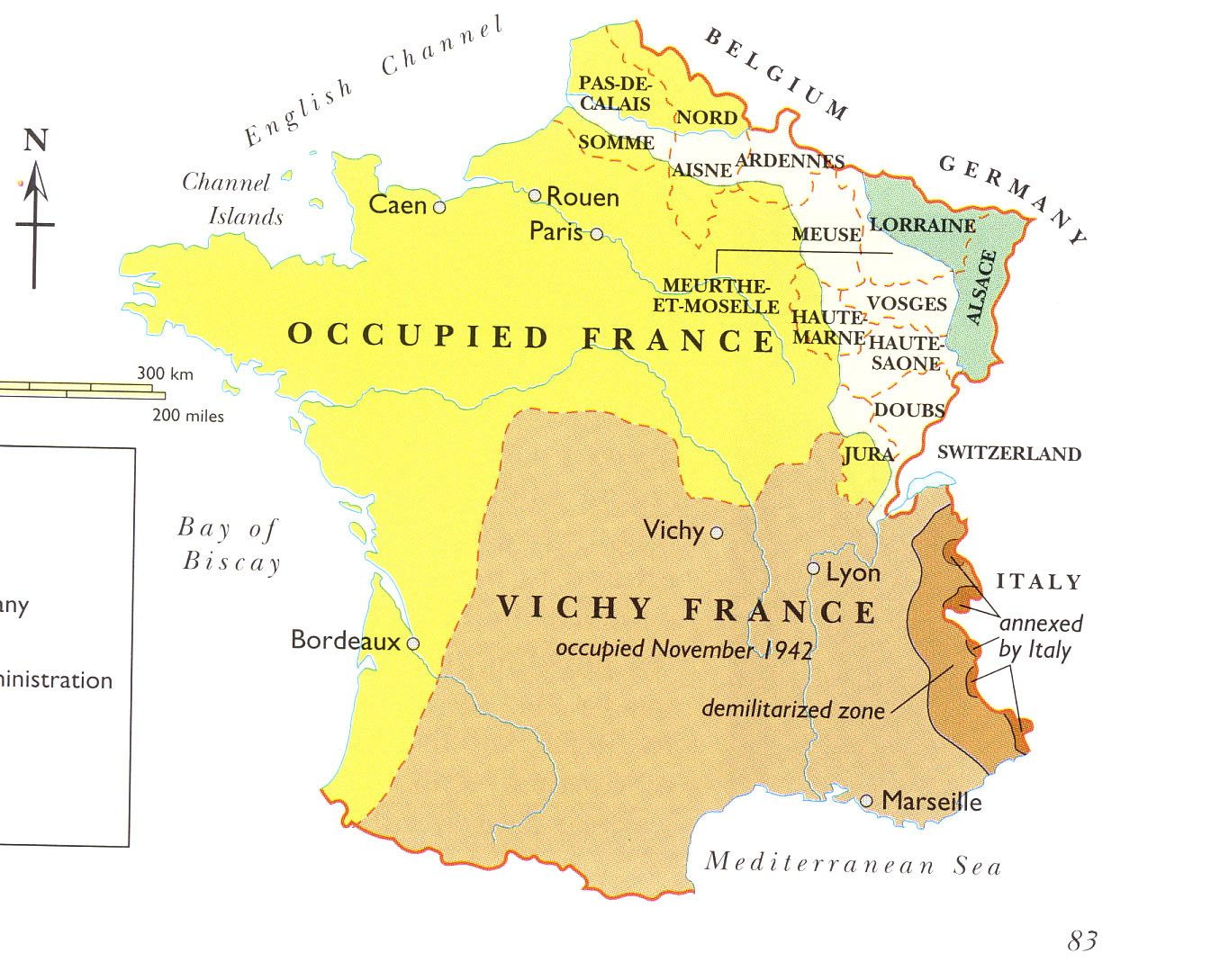 Map Of France During Wwii Source Http Pages Uoregon Edu