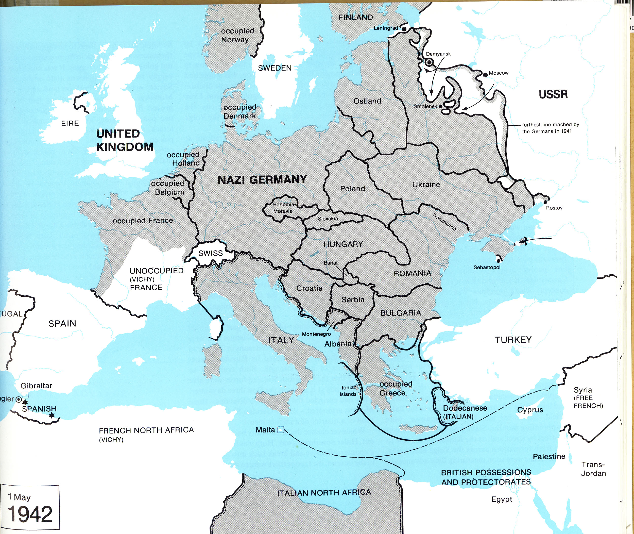 ... Map Of France Under German Occupation ...