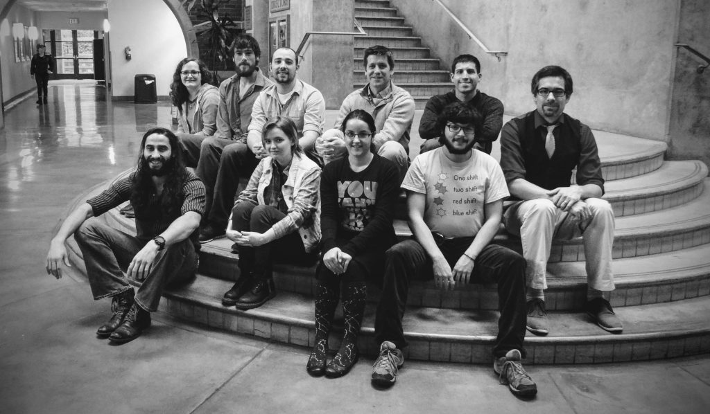 McMorran group March 1, 2016 Front row, left to right: Fehmi Yasin, Quin Konyn (undergrad), Eryn Cangi (undergrad), Saul Propp Back row, left to right: Alice Greenberg, Tyler Harvey, Jordan Chess, Ben McMorran, Spencer Alexander, Jordan Pierce Not shown: Galen Gledhill
