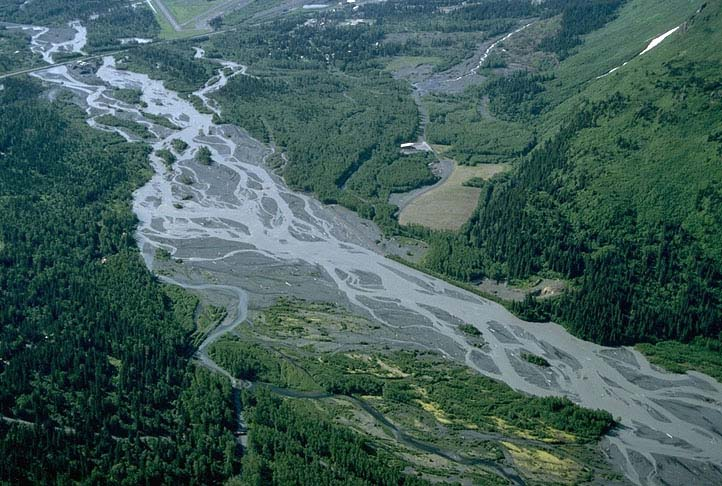 Resurrection river kenai peninsula alaska