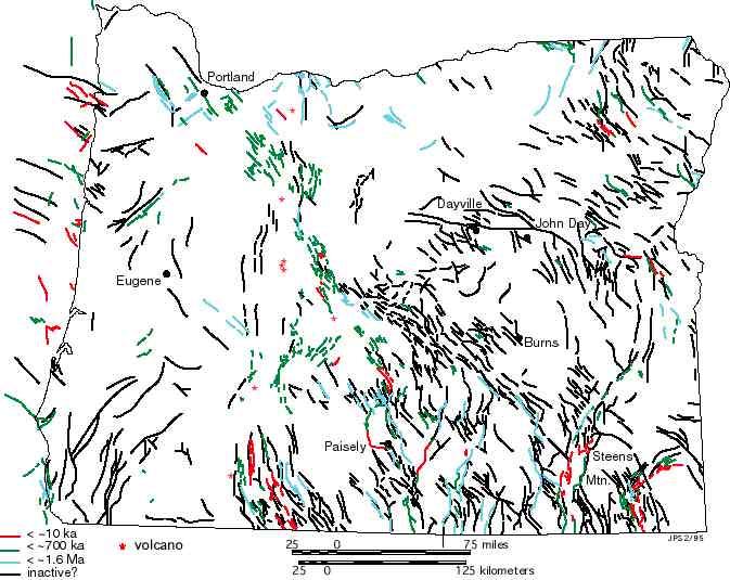 oregon fault lines map Fault Maps Of Oregon oregon fault lines map