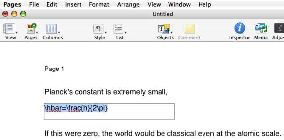 Running math equations in latex