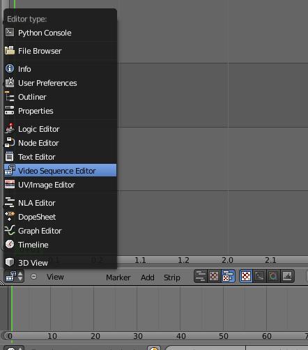 Blender video editing software