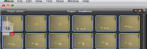 how to delete frames in imovie