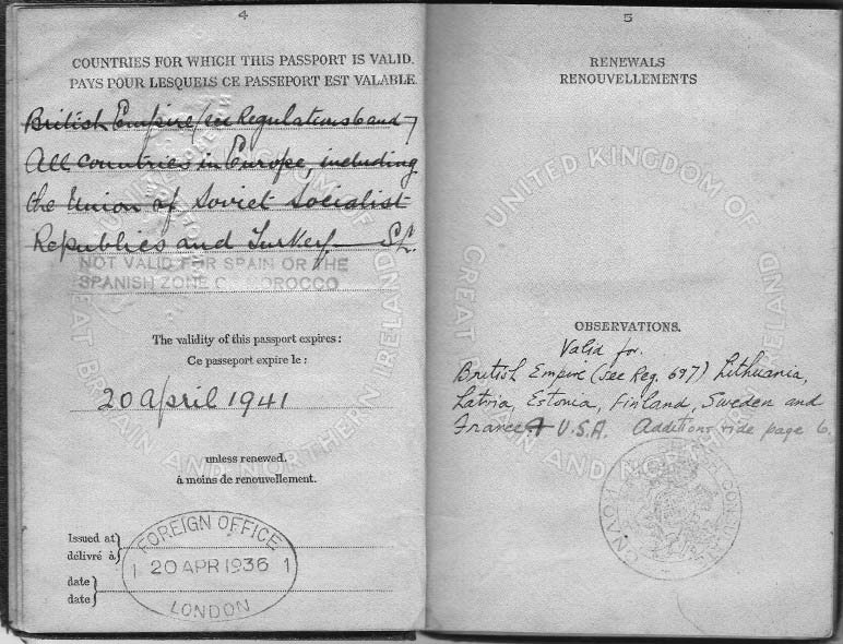 Pinkhas Berliner Passport And Letters Of Recommendation