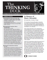 Thinking Duck, Fall 2006 Issue