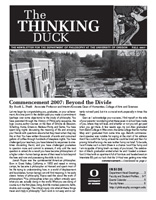 Thinking Duck, Fall 2007 Issue